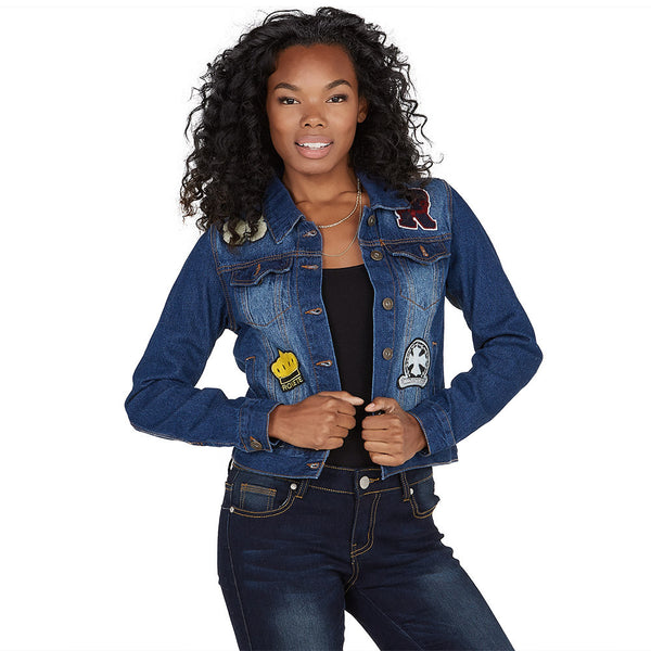 Good-To-Go Patchwork Denim Jacket - Citi Trends Ladies and Plus - Front