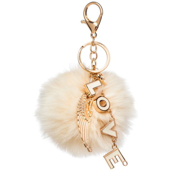 Love At Fur Site Pom Pom Keychain - Citi Trends Accessories - Front