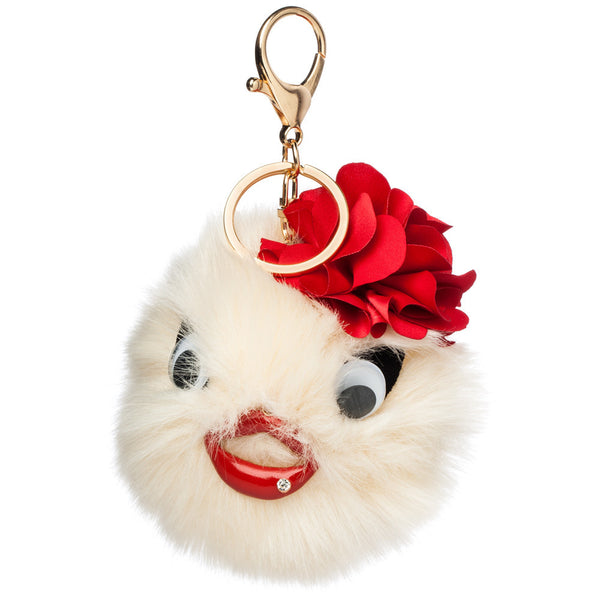 Bird's Eye View Pom Pom Keychain - Citi Trends Accessories - Front