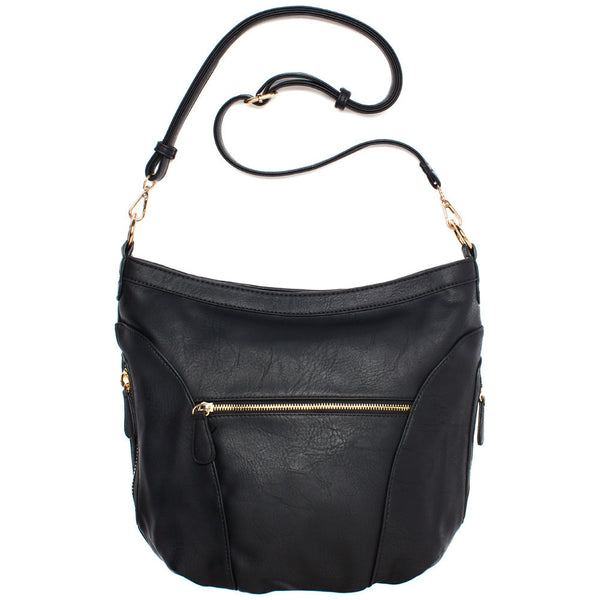 Black Extra Large Sling Crossbody Bag - Citi Trends Accessories - Back