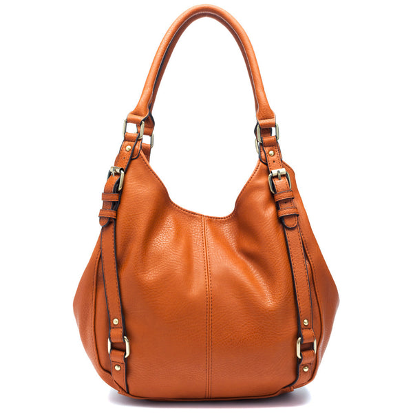 Carry On Tan Buckle Hobo Bag - Citi Trends Accessories - Front