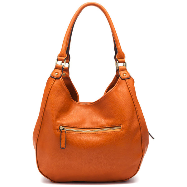 Carry On Tan Buckle Hobo Bag - Citi Trends Accessories - Back