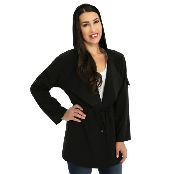 Look-Great Layer Black Hooded Anorak - Citi TrendsJuniors - 2