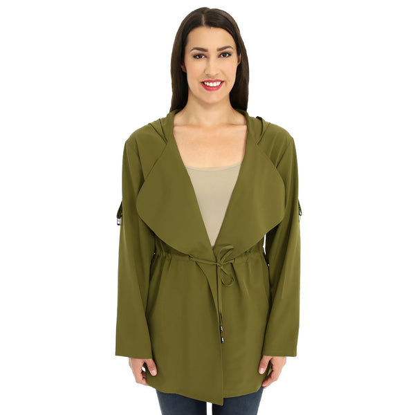 Look-Great Layer Olive Hooded Anorak - Citi TrendsJuniors - 1