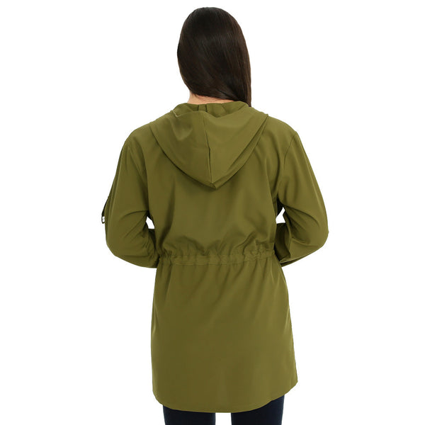Look-Great Layer Olive Hooded Anorak - Citi TrendsJuniors - 3