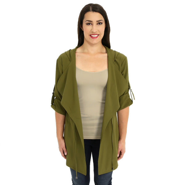 Look-Great Layer Olive Hooded Anorak - Citi TrendsJuniors - 4