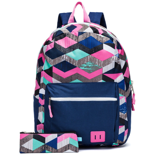 Back On Track Backpack And Pencil Case Set - Citi Trends Girls - Front