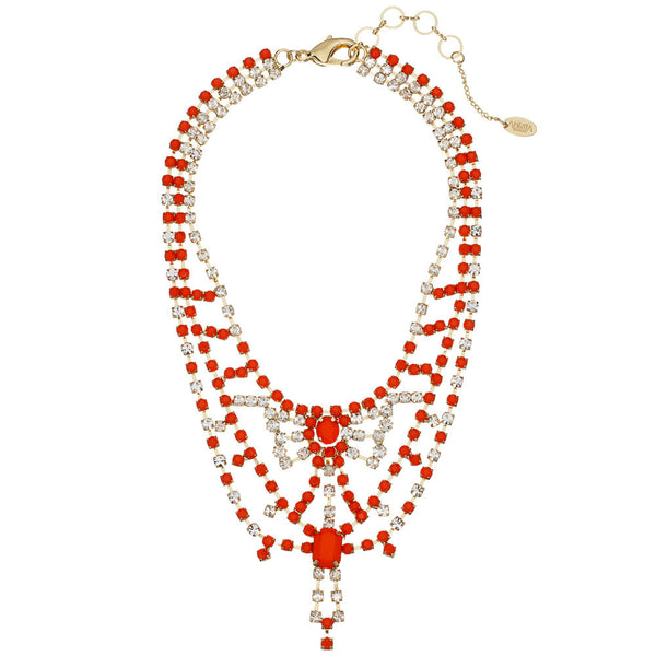 Amrita Singh Ruby Resin Collar Necklace With Austrian Crystals - Citi Trends - Accessories