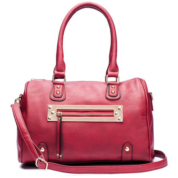 Zip-A-Dee-Must-Do Wine Speedy Satchel - Citi Trends Accessories - Front