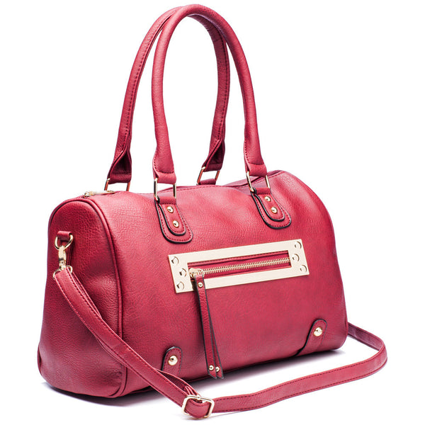 Zip-A-Dee-Must-Do Wine Speedy Satchel - Citi Trends Accessories - Side