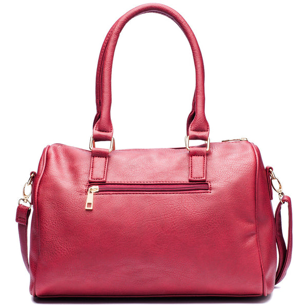 Zip-A-Dee-Must-Do Wine Speedy Satchel - Citi Trends Accessories - Back