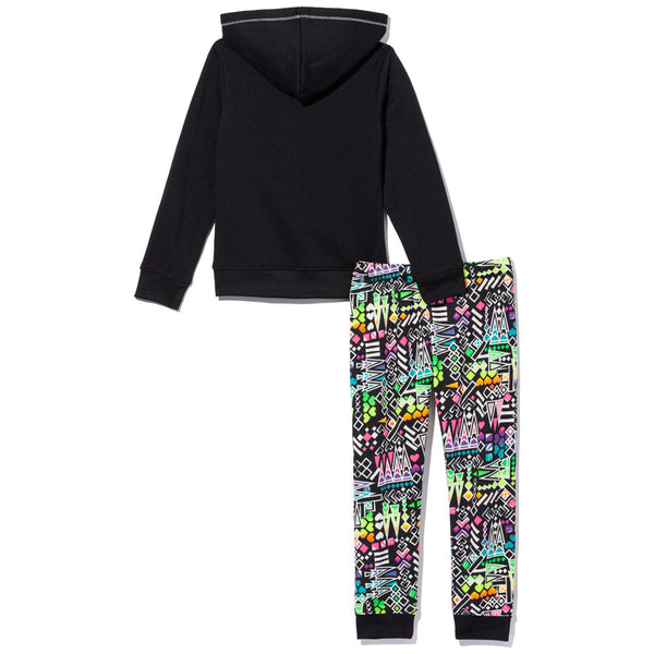 Color Craze Girls 2-Piece Aztec Print Fleece Jogger Set - Citi Trends Girls - Back
