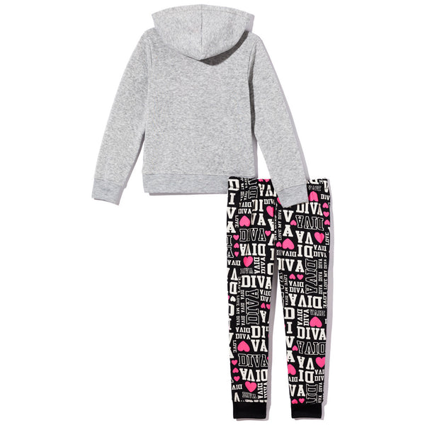All-Around Diva Girls 2-Piece Fleece Jogger Set - Citi Trends Girls - Back