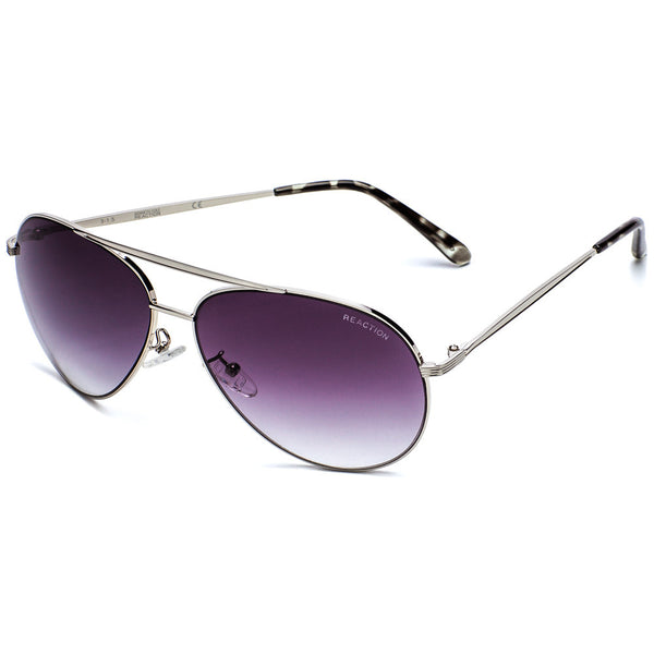 Kenneth Cole Reaction Women's Silver Metal Aviator sunglasses  With Gradient Lens  - Citi Trends Accessories