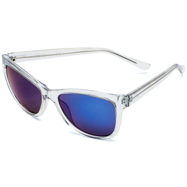 Kenneth Cole Reaction Clear Translucent Square Mirrored Sunglasses