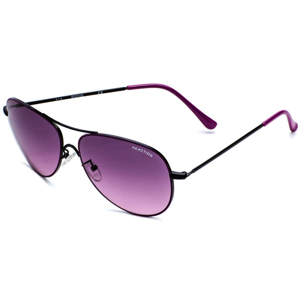 Kenneth Cole Reaction Women's Black & Purple Metal Aviator Sunglasses - Citi Trends Accessories