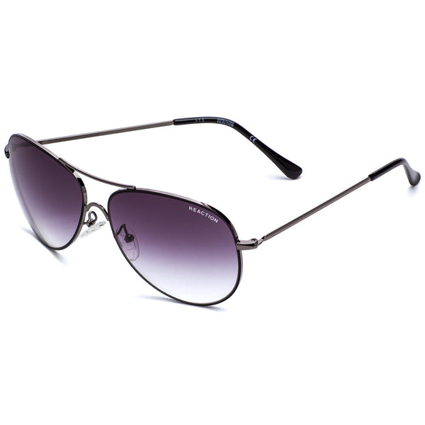 Kenneth Cole Reaction Women's Gunmetal Aviator Sunglasses With Gradient Lens - Citi Trends Accessories