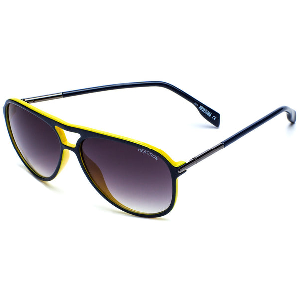 Kenneth Cole Reaction Unisex Blue & Yellow Plastic Teardrop Aviator Sunglasses - Citi Trends Accessories