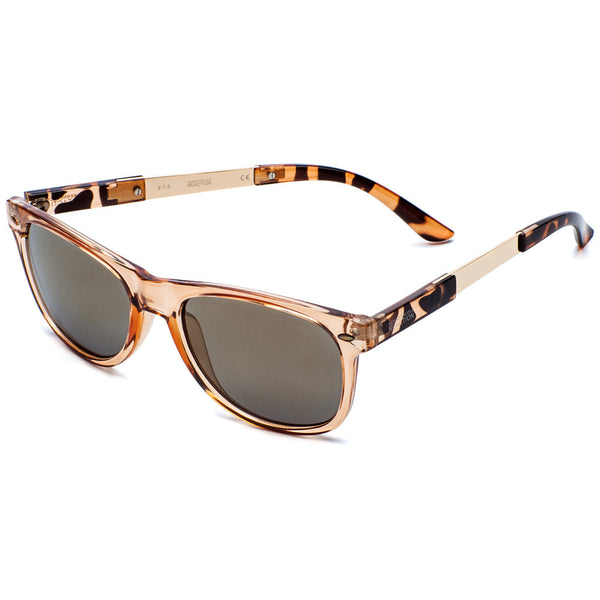 Kenneth Cole Reaction Woman's Brown Translucent Wayfarer Sunglasses - Citi Trends Accessories