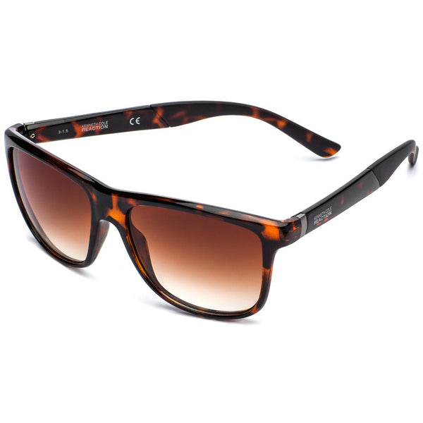 Kenneth Cole Reaction Unisex Brown Tortoiseshell Square Sunglasses with Gradient Lens - Citi Trends Accessories