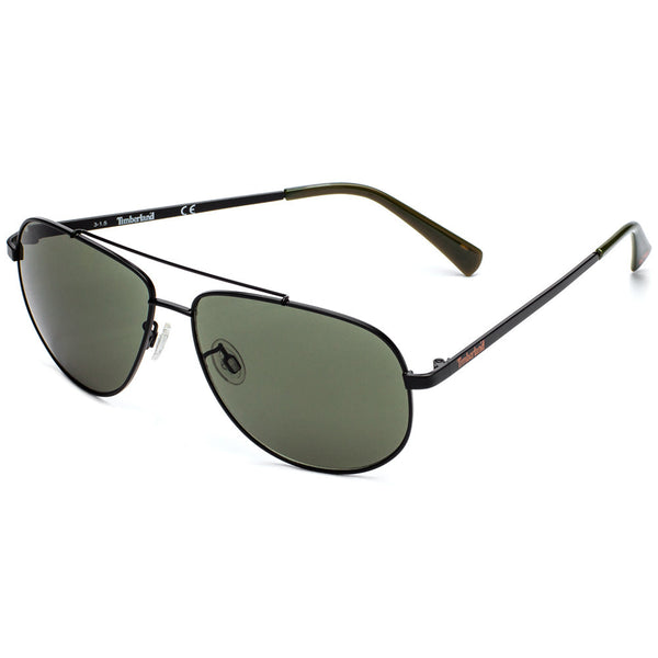 Timberland Men's Black Square Metal Aviator Sunglasses  - Citi Trends Accessories
