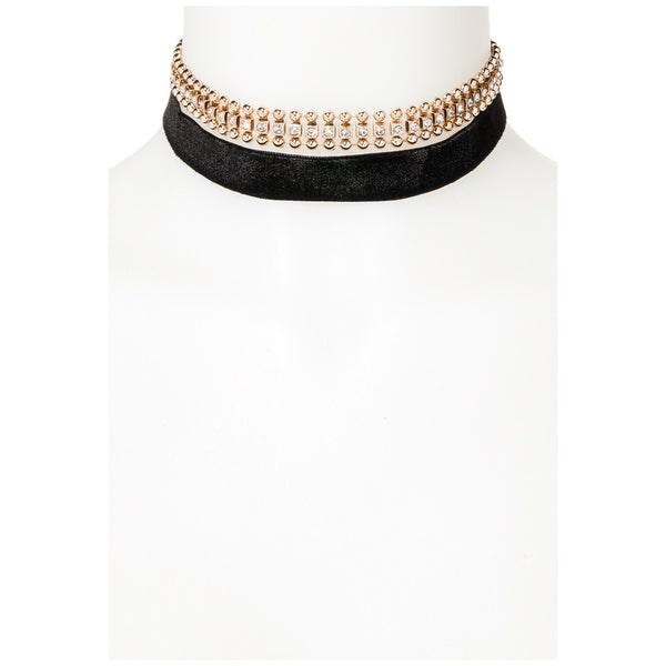 In The Round Gold/Black Ball Choker - Citi Trends Accessories - FRONT