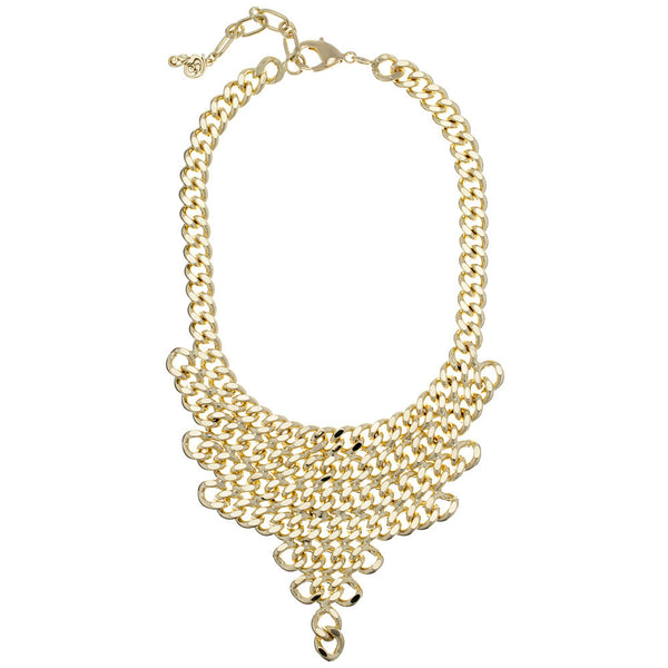 Gold Chain-Link Bib Necklace - Citi Trends - Accessories