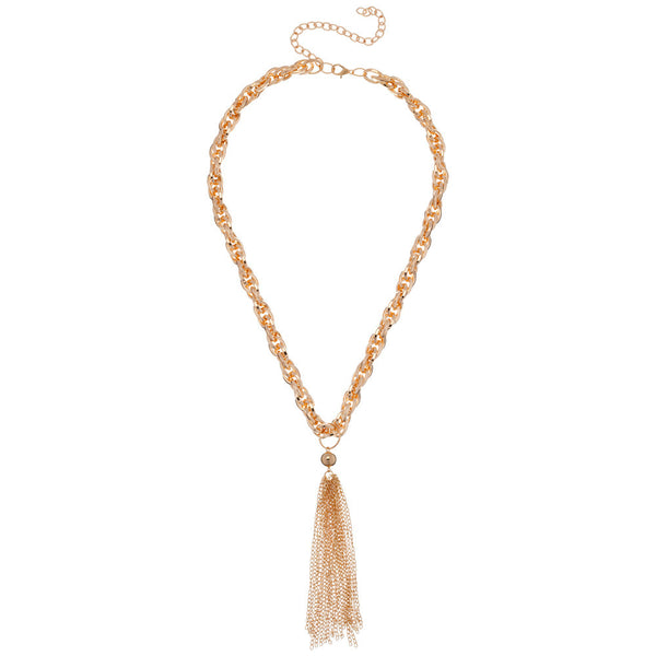 Gold Fringe Tassel Chain Necklace - Citi Trends - Accessories