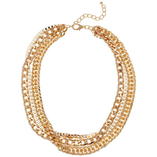 Gold 3-Strand Chain Necklace - Citi Trends - Accessories