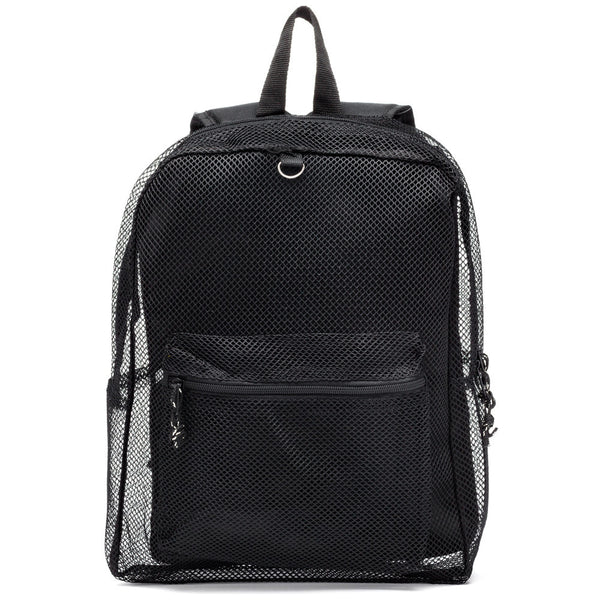 Ready For The Weekend Black Mesh Backpack - Citi Trends Girls - Front