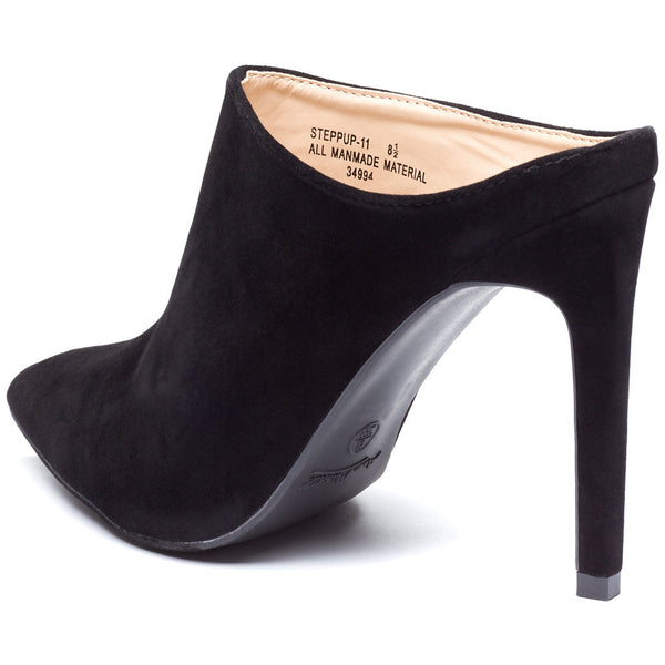 Black Pointy-Toe Mule Stiletto Heel - Citi Trends Shoes - Back