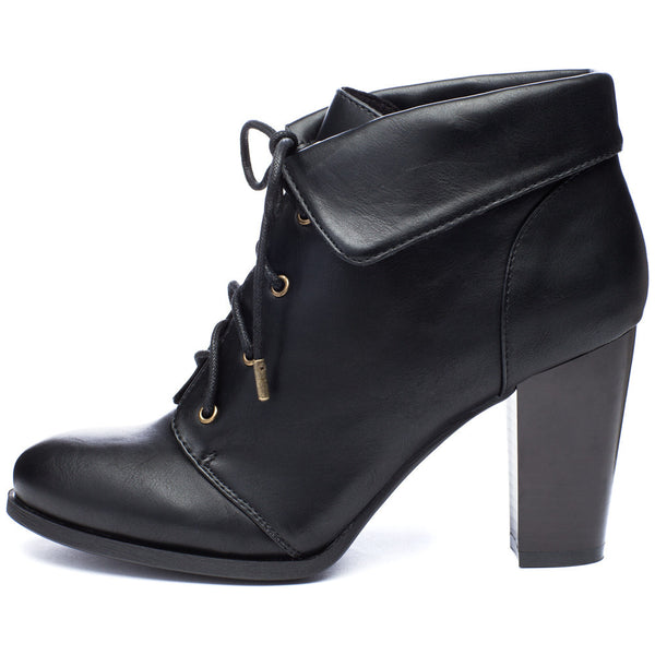 Commute In Style Black Fold-Over Bootie - Citi Trends Shoes - Side