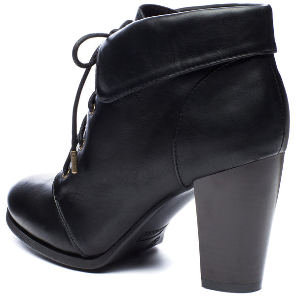 Commute In Style Black Fold-Over Bootie - Citi Trends Shoes - Back