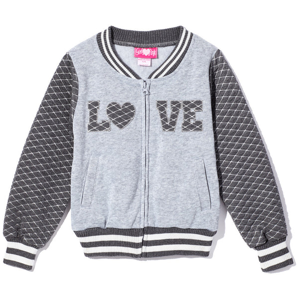 Love The Look Girls Fleece Bomber Jacket - Citi Trends Girls - Front