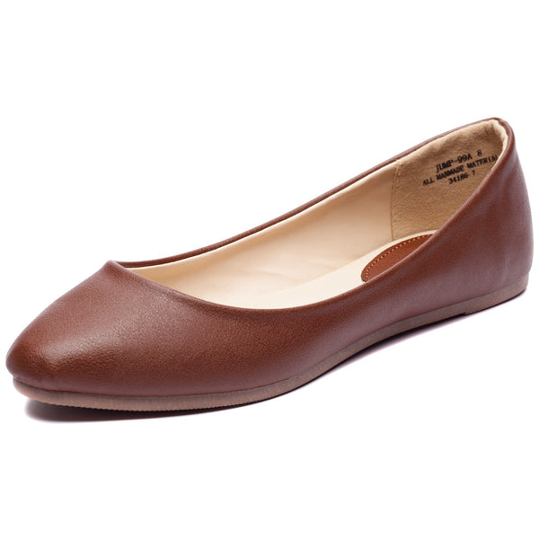 Chestnut Pointy-Toe Ballet Flat - Citi Trends Shoes - Front