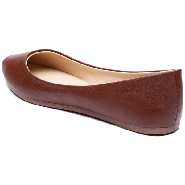 Chestnut Pointy-Toe Ballet Flat - Citi Trends Shoes - Back