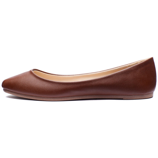 Chestnut Pointy-Toe Ballet Flat - Citi Trends Shoes - Side