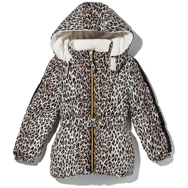 Spotted In Style Girls Leopard Print Puffer Jacket - Citi Trends Girls - Front