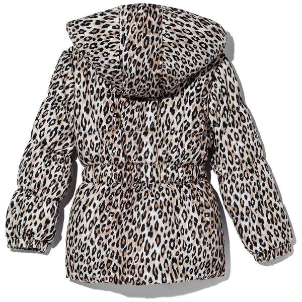 Spotted In Style Girls Leopard Print Puffer Jacket - Citi Trends Girls - Back
