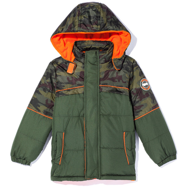 Covert Cool Boys Camo Zip-Up Puffer Jacket - Citi Trends Boys - Front