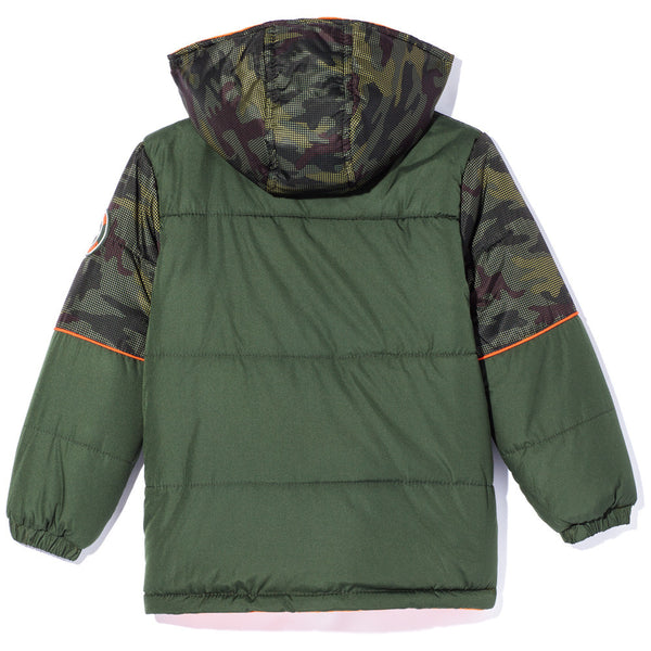 Covert Cool Boys Camo Zip-Up Puffer Jacket - Citi Trends Boys - Back