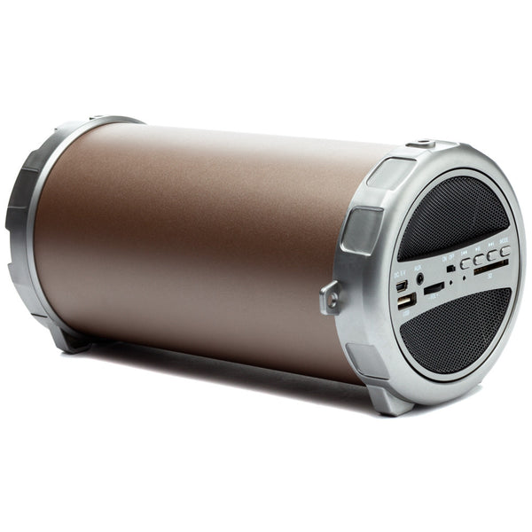 Party On Brown/Silver Sonic Bluetooth Boombox Speaker - Citi Trends Accessories - Front