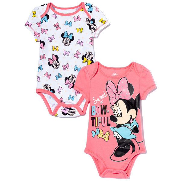 Sweet n' Bow-Tiful Girls 2-Piece Minnie Mouse Creeper Set - Citi Trends Baby - Front