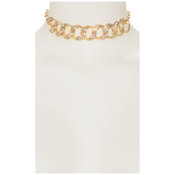 Bling In The New Year Gold Choker - Citi Trends Accessories - Front