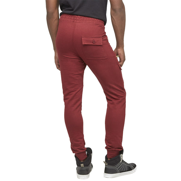 Just Zip It Burgundy Moto Jogger - Citi Trends Mens - Back