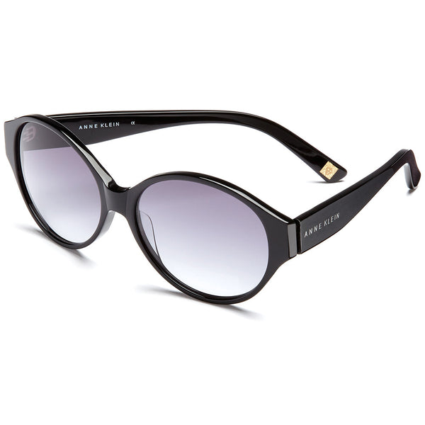 Anne Klein Women's Black Oval Sunglasses with Grey Lens - Citi Trends Accessories