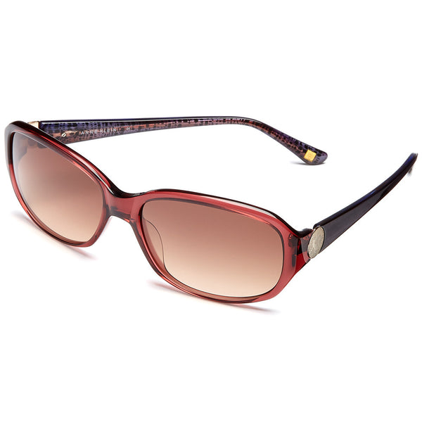 Anne Klein Women's Burgundy Rectangle Translucent Sunglasses - Citi Trends Accessories