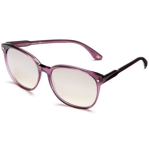 Bottega Veneta Women's Purple Translucent Oversized Mirrored Sunglasses - Citi Trends Accessories