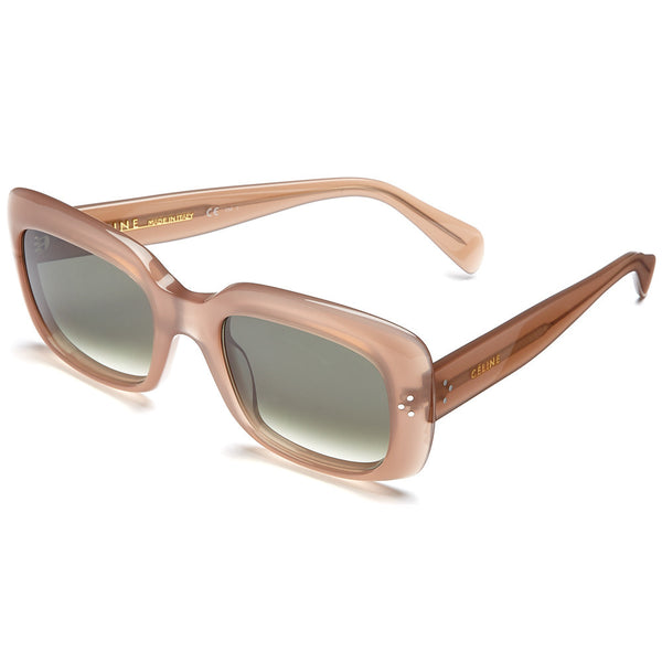 Céline Women's Light Brown Translucent Oversized Sunglasses With Green Gradient Lens - Citi Trends Accessories