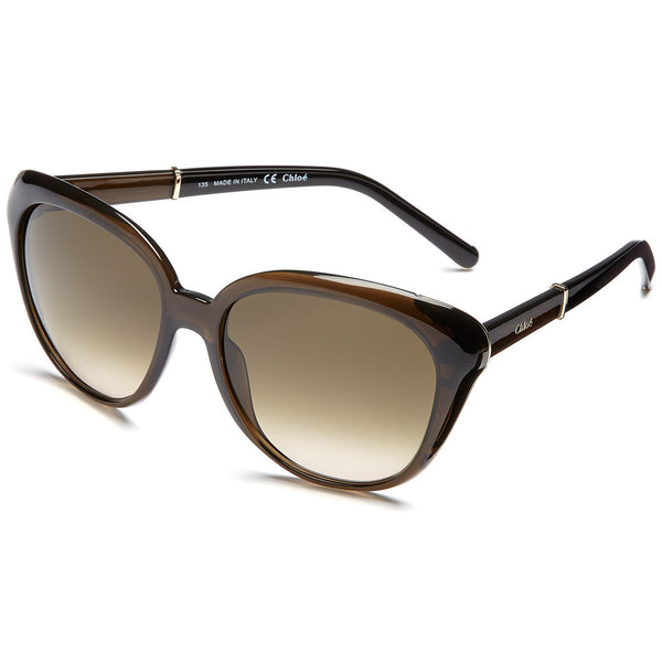 Chloé Women's Olive Green Translucent Cat-Eye Sunglasses - Citi Trends Accessories